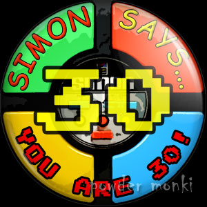 Simon Says - Retro Birthday Badge/Magnet
