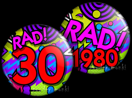 Rad! - Retro Birthday Badge/Magnet