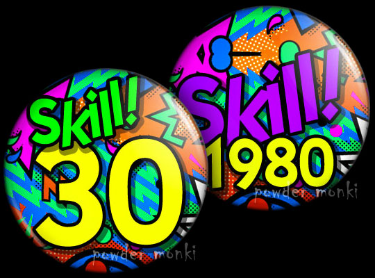 Skill! - Retro Birthday Badge/Magnet