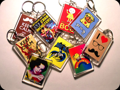 Retro Keyrings