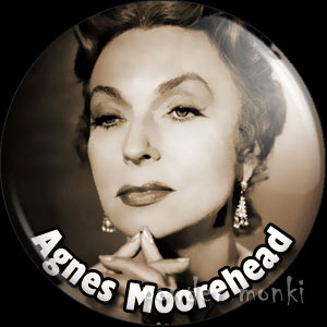 Agnes Moorehead - Vintage Movie Star Badge/Magnet