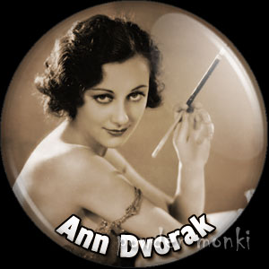Ann Dvorak - Vintage Movie Star Badge/Magnet