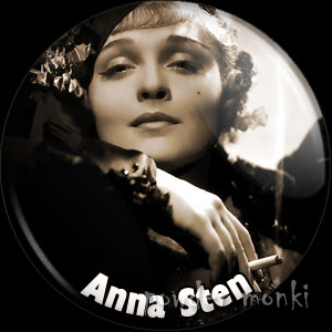 Anna Sten - Vintage Movie Star Badge/Magnet