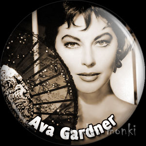 Ava Gardner - Vintage Movie Star Badge/Magnet