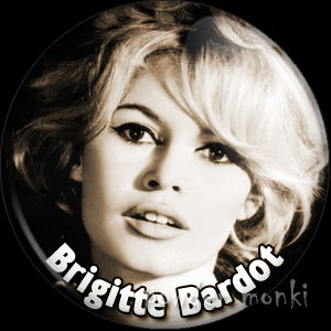Bridgette Bardot - Vintage Movie Star Badge/Magnet
