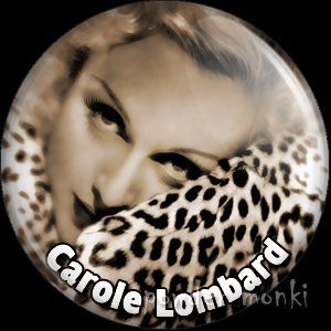 Carol Lombard - Vintage Movie Star Badge/Magnet