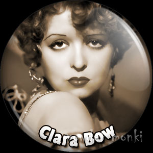 Clara Bow - Vintage Movie Star Badge/Magnet
