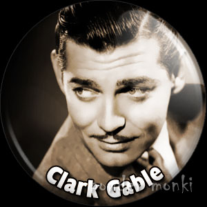 Clark Gabel - Vintage Movie Star Badge/Magnet