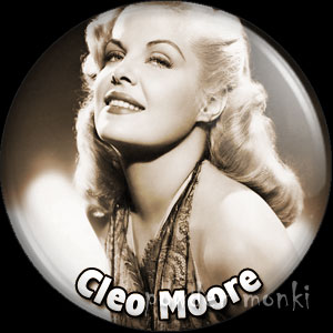 Cleo Moore - Vintage Movie Star Badge/Magnet
