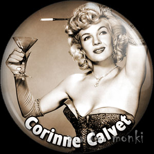 Corinne Calvet - Vintage Movie Star Badge/Magnet