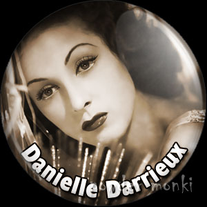 Danielle Darrieux - Vintage Movie Star Badge/Magnet