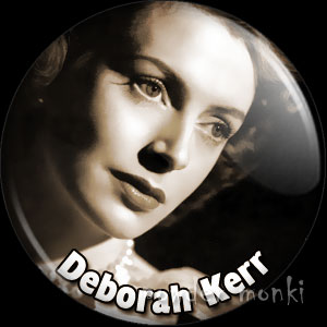 Deborah Kerr - Vintage Movie Star Badge/Magnet