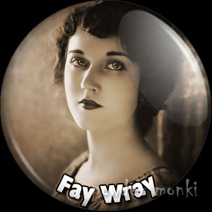 Fay Wray - Vintage Movie Star Badge/Magnet