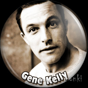 Gene Kelly - Vintage Movie Star Badge/Magnet