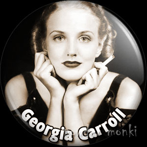 Georgia Carroll - Vintage Movie Star Badge/Magnet