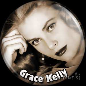 Grace Kelly - Vintage Movie Star Badge/Magnet