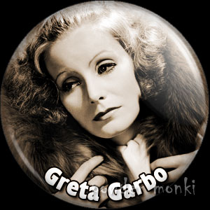 Greta Garbo - Vintage Movie Star Badge/Magnet