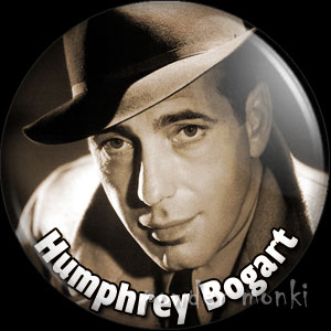 Humphrey Bogart - Vintage Movie Star Badge/Magnet