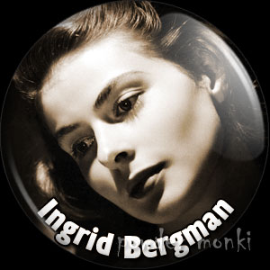 Ingrid Bergman - Vintage Movie Star Badge/Magnet