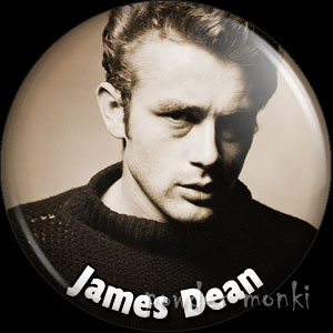 James Dean - Vintage Movie Star Badge/Magnet