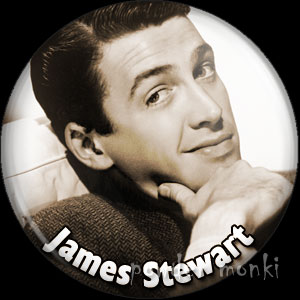 James Stewart - Vintage Movie Star Badge/Magnet