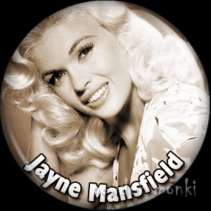 Jayne Mansfield - Vintage Movie Star Badge/Magnet