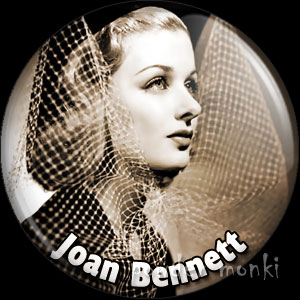 Joan Bennett - Vintage Movie Star Badge/Magnet