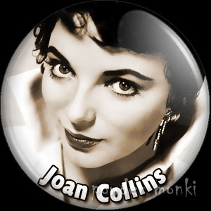 Joan Collins - Vintage Movie Star Badge/Magnet