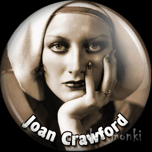 Joan Crawford - Vintage Movie Star Badge/Magnet