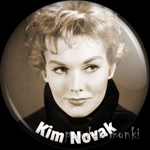 Kim Novak - Vintage Movie Star Badge/Magnet