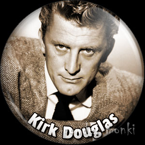 Kirk Douglas - Vintage Movie Star Badge/Magnet