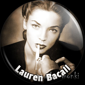 Lauren Bacall - Vintage Movie Star Badge/Magnet