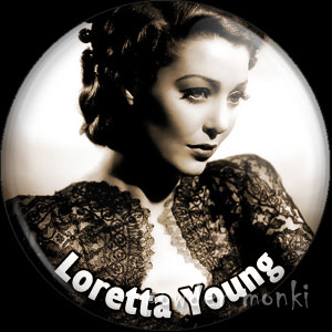 Loretta Young - Vintage Movie Star Badge/Magnet