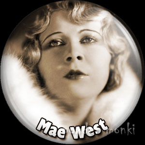 Mae West - Vintage Movie Star Badge/Magnet