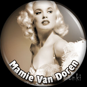Mamie Van Doren - Vintage Movie Star Badge/Magnet