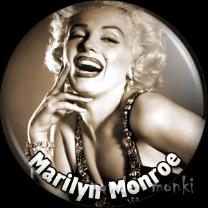 Marilyn Monroe - Vintage Movie Star Badge/Magnet