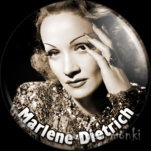 Marlena Dietrich - Vintage Movie Star Badge/Magnet