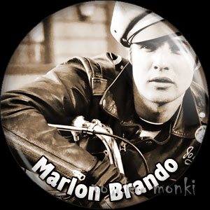 Marlon Brando - Vintage Movie Star Badge/Magnet