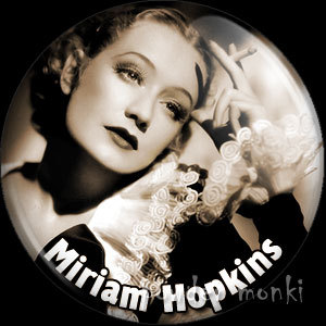 Miriam Hopkins - Vintage Movie Star Badge/Magnet