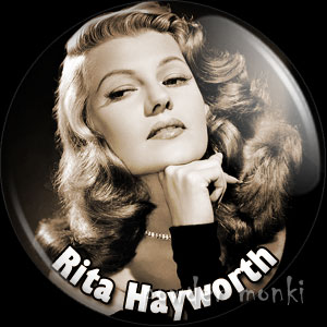 Rita Hayworth - Vintage Movie Star Badge/Magnet