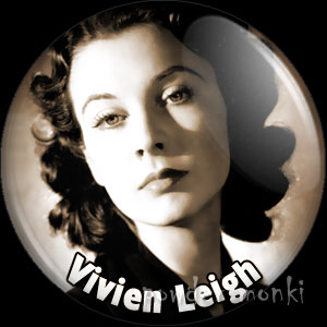 Vivien Leigh - Vintage Movie Star Badge/Magnet