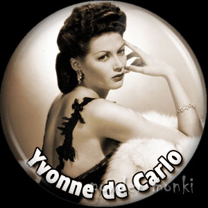 Yvonne De Carlo - Vintage Movie Star Badge/Magnet