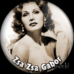 Zsa Zsa Gabor - Vintage Movie Star Badge/Magnet