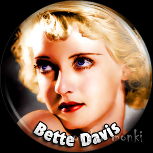 Bette Davis - Retro Movie Star Badge/Magnet