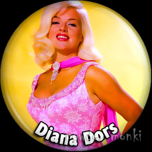 Diana Dors - Retro Movie Star Badge/Magnet
