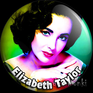 Elizabeth Taylor - Retro Movie Star Badge/Magnet