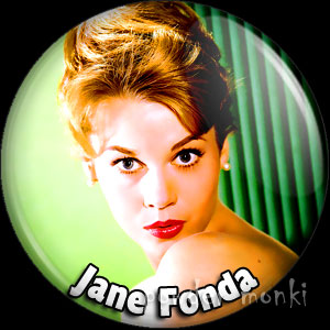 Jane Fonda - Retro Movie Star Badge/Magnet