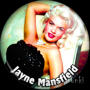 Jayne Mansfield - Retro Movie Star Badge/Magnet