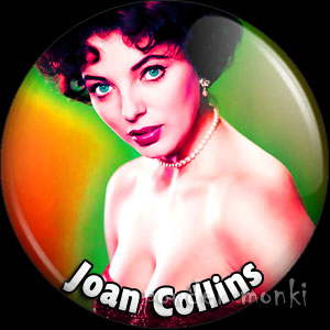 Joan Collins - Retro Movie Star Badge/Magnet