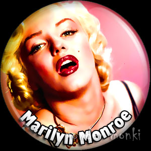 Marilyn Monroe - Retro Movie Star Badge/Magnet